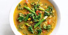 This healthy lentil vegetarian soup gets its lovely golden colour from turmeric, which contains curcumin, known for its anti-inflammatory properties.
