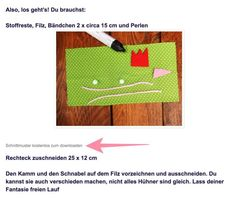 Osterhuehner gratis Schnittmuster herunterladen Diy Cutting Board, Wands, Fabric Crafts, Blog, Couture, Hens, Manualidades, Breakfast, Bird Template