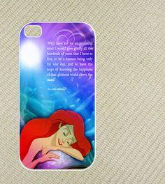 Disney princess, Little Mermaid Quotes Iphone 4 case,