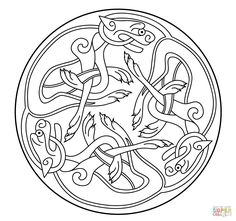 Celtic Ornament Design from Book of Kells | Super Coloring