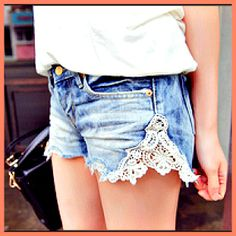 jean shorts DIY