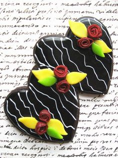More Hearts and Roses Cookie by drakegore, via Flickr