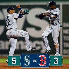 The #Mariners answer with five runs in the 9th to take series opener from #RedSox. 8/22/14