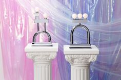 Another Human Debuts New Chrome Lamps with a Memphis Group Feel - Design Milk Unique Table Lamps, Side Table Lamps, Metal Table Lamps, Contemporary Table Lamps, Lamp Table, Desk Lamp, Unicorn Foods, New Chrome, Luxury Lighting