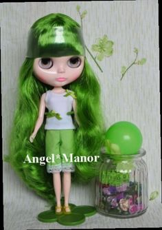 43.80$  Watch here - http://ali458.worldwells.pw/go.php?t=32598212826 - Nude Blyth Doll, green6 long hair, big eye doll,Fashion doll Suitable For DIY Change BJD , For Girl's Gift,PGL006 43.80$