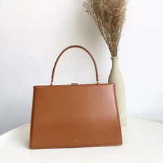 Celine medium clasp box tote Bag Brown