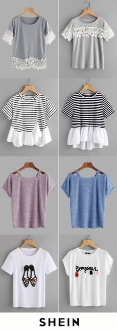 Cheap t-shirts spotlights diy clothes, clothes y shirts. Diy Clothes Refashion, Diy Clothing, Fall Outfits, Casual Outfits, Cute Outfits, Diy Fashion, Fashion Outfits, Womens Fashion, Diy Vetement