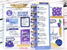 purple monochromatic fully functional MINI Happy Planner® layout by mambi Design Team member Stephanie Howell   me & my BIG ideas