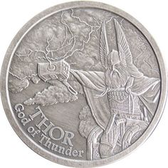 1 oz Antique Norse God Series Thor Silver Rounds from JM Bullion™