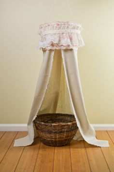 Vintage Rose and Lace Canopy for Newborn/Children Photography Prop. $35.00, via Etsy.