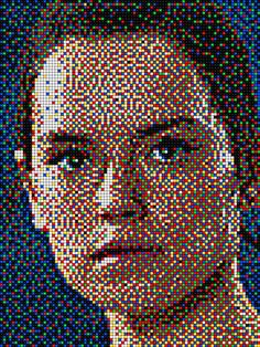 Rey - Star Wars with Pixel Art Quercetti
