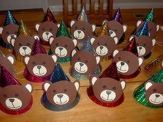 teddy bear party hats