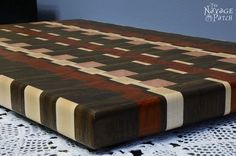 the story of a board an end grain cutting board tutorial, crafts, how to, woodworking projects