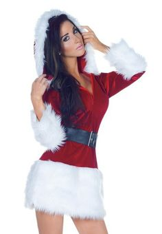 f618337d6378e Sexy Womens Mrs Santa Claus Christmas Halloween Costume Womens Santa  Costume