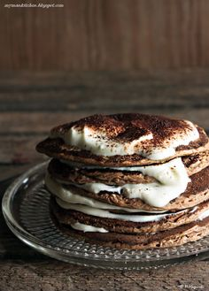 My man's kitchen...: Tiramisu pancakes - again, not in English, but I can do this.