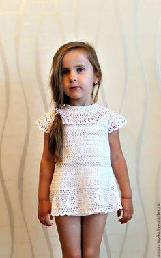 Одежда для девочек, ручной работы. Ярмарка Мастеров - ручная работа. Купить Платье для девочки. Handmade. Белый, летнее платье