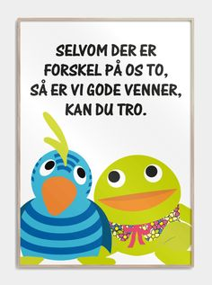 Kaj and Andrea - Good friends Danish Movies, Wall Decor Quotes, Strong Love, Life Planner, My Childhood, Wise Words, Activities For Kids, Diy And Crafts, Kids Room