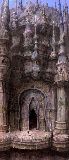Takeshi Oga Art  I really like this, but I can't get over the doorway. When you see it...