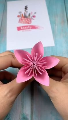 Origami Flowers 834151162219823826 - Source by Diy Mother's Day Crafts, Cool Paper Crafts, Paper Flowers Craft, Diy Crafts Hacks, Paper Crafts Origami, Origami Flowers, Origami Art, Diy Arts And Crafts, Flower Crafts
