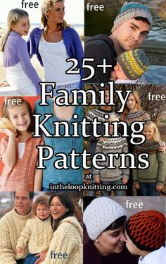 Knitting patterns for the whole family. Most patterns are free