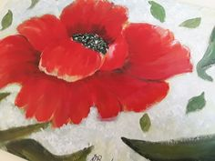 Giant Red Poppy On Canvas Board Stunning Poppy Painting Floral Acrylic Artwork For Ladies Mum Teenager Wall Decor UK Etsy Shop Statement Art Acrylic Artwork, Canvas Board, Etsy Uk, Red Poppies, Handmade Crafts, Poppy, Promotion, Original Paintings, Arts And Crafts