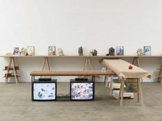 """Christina Mackie """"Painting the Weights"""" at Chisenhale Gallery, London"""