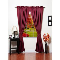 Add an extra layer of insulation over your windows while blocking out the sun with these noise-reductive thermal insulated curtains. The curtains can be hung from a standard curtain rod and come in a variety of colors to match your existing home decor.