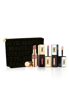 Free shipping and returns on Yves Saint Laurent 'Rebel Nudes' Set ($108 Value) at Nordstrom.com. Discover the secret to a flawless nude lip with the Rebel Nudes set by Yves Saint Laurent. It features a trio of best-selling products packaged in an exclusive pouch.Set includes:- Full-size Rouge Volupté Shine Oil-in-Stick Lipstick in 47 Beige Blouse (0.15 oz.)- Full-size Rouge Pur Couture Vernis a Levres Glossy Stain in 07 Corail Aquatique (0.06 oz.)- Full-size Plump Up Glossy Stain in 200 Plum...