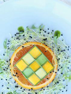 Tuna tatar with an avocado mango salad – Eat Cook Dine Mango Avocado Salad, Avocado Toast, Onion Sprouts, Freshly Squeezed Orange Juice, White Wine Vinegar, Healthy Protein, Bon Appetit, Tuna