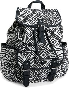 Polyvore style zentangle backpack