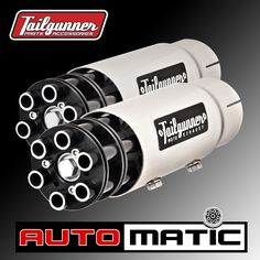 """Tailgunner AUTOMATIC tips for cars and trucks show everyone on and off the street who's boss! They feature free flowing, fully rotating barrels that spin with the exhaust flow.  ✔ Inside Diameter: 2.25"""", 2.5"""" 3.0"""" ✔ Total Length: 15.0"""" (includes barrel length) ✔ Overall Diameter: 3.0"""" ✔ Body Material: 304 Stainless steel ✔ Body Finish: High Polished ✔ Barrel Colors: Black ✔ Shape: Round ✔ Quantity: Single or Pair ✔ Installation: Clamp-on and / or weld  Ship date: Tailgunner AUTOMATICS will…"""