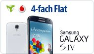 mobilcom-debitel Vodafone Flat 4 You - 24,90 mtl. und Samsung I9505 Galaxy S4 16GB-Handy