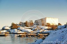 Protective Scaffolding Over Built Cottage On North Sea Island Stock Photo - Image of recreation, happy: 50158600 Green Terrace, House Built, North Sea, Winter Landscape, Winter Coat, Norway, Tent, Stage, Coast