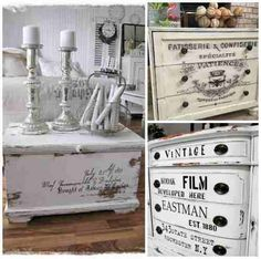Only cute things: Shabby Chic Annie Sloan Painted Furniture, Annie Sloan Paints, Chalk Paint Furniture, Hand Painted Furniture, Refurbished Furniture, Bedroom Furniture, Shabby Chic Cottage, Vintage Shabby Chic, Shabby Chic Homes