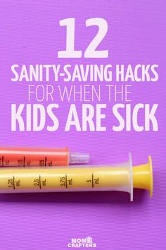Having a sick child can be anightmare for mom but these simple hacks make life much easier! You'll love these parenting hacks for sick babies toddlers and big kids - including how to save money on medications and such. (sponsored)