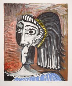 Title: Tete de Femme Year of Original: 1962 Medium: Lithograph on Arches Paper Edition: 500, 34 AP's Paper Size: 29 x 22 inches Ref #: 25-1