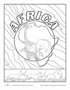 Antarctica Coloring Page | Antarctica, Worksheets and Earth