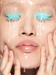 powder blue eyes water Sora Choi and Yue Han by Lacey for Vogue China June 2016