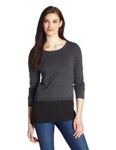 Calvin Klein Women's Sweater with Shirt Tail