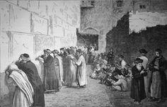 Terre-sainte, la place des lamentations, février 1879