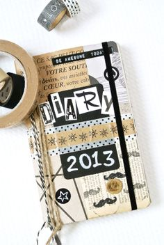 DIY Customise Your Diary Cover 2013! ♥