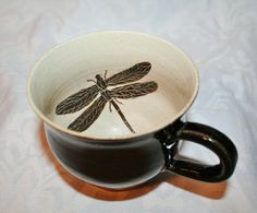 ♈ Dragonfly Versailles ♈ dragonflies in art, photography, jewelry, crafts, home & garden decor - Mug with handpainted dragonfly