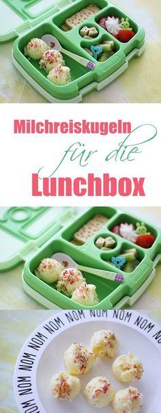 Milchreis Kugeln Rezept Idee für die Lunch Box, Bentgo Kids Box Frühstück oder Lunch Idee für die Schule oder den Kindergarten