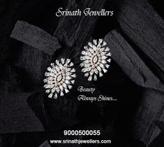 Beauty always shines and this shine makes others around it shine with joy.Visit us to explore more beautiful creations for you. Call now - 9866202220 Jewelry Ads, Jewelry Necklaces, Jewelry Design, Jewellery, Diamond Jewelry, Gold Jewelry, Diamond Earrings, Pearl Earrings, Gold Earrings Designs