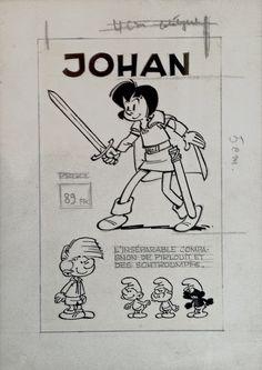 Peyo, Johann und Pfiffikus, Johan et Pirlouit, Johan and Peewit + Die Schlümpfe, Les Schtroumpfs, The Smurfs publicité pour des jouets en latex Comic Art