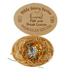 Fish and Bread Loaves Bible Story Heirloom Collection from Inge-Glas of Germany