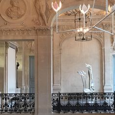 The central staircase at Musée Picasso - fixture