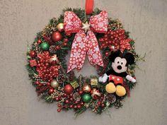 Guirlanda de Natal Mickey Tamanho diâmetro: 47 cm Fazemos personalizado sob encomenda