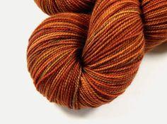 Hand Dyed Yarn  Sock Weight Superwash Merino Wool Yarn