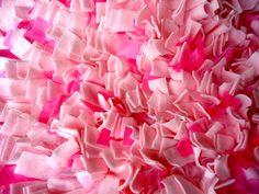 Auf Verkauf hell bunt Rosa Shag Teppich Rag von eMDesignBoutique